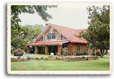"Arts and crafts style home built by Gordon ""Pawnee Bill"" Lillie and his wife May in Pawnee, OK is now the Pawnee Bill Ranch and Museum"